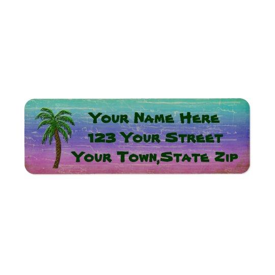 Tropical Palm Tree Return Address Labels