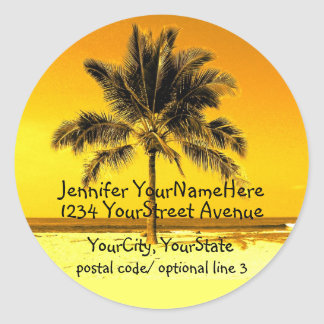 Tropical Palm Tree return address labels