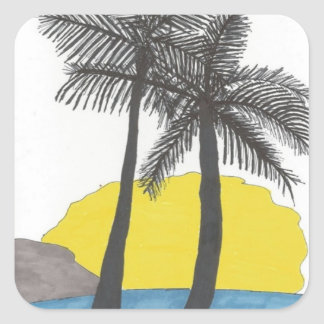 Tropical Palm Tree Sticker