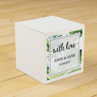 Tropical Palm Tree Wedding Favour Box