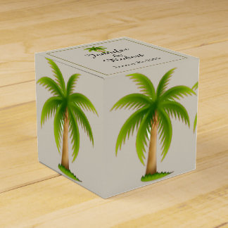 Tropical Palm Tree Wedding Party Favour Boxes
