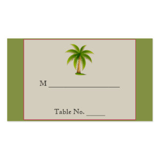 Tropical Palm Tree Wedding Place Cards Business Cards