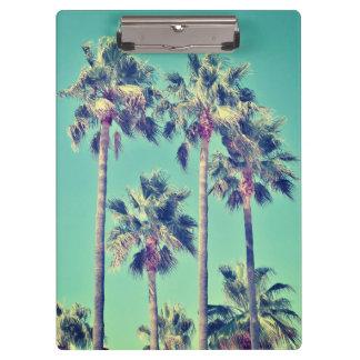 Tropical Palm Trees against a Teal Sky Clipboard