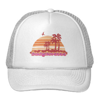 tropical palm trees hawaii bachelorette party hat