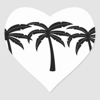 Tropical Palm Trees Heart Sticker