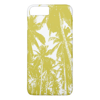 Tropical Palm Trees in Golden Brown iPhone 8 Plus/7 Plus Case