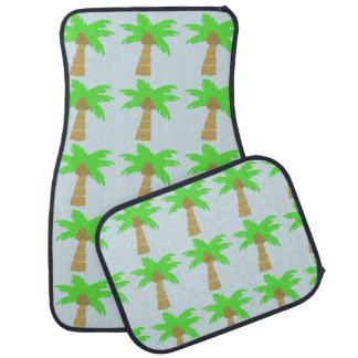Tropical Palm Trees Island Beach Custom Color Car Mat