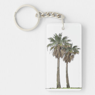 Tropical Palm Trees Keychain