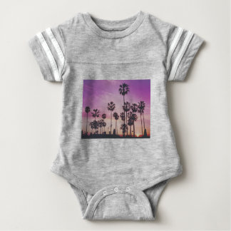 Tropical Palm Trees Miami Los Angeles Venice Baby Bodysuit