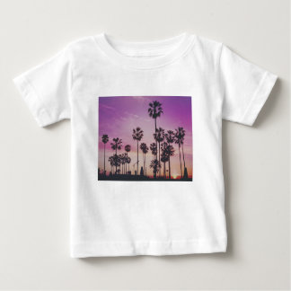 Tropical Palm Trees Miami Los Angeles Venice Baby T-Shirt
