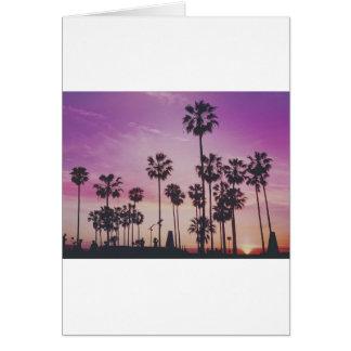 Tropical Palm Trees Miami Los Angeles Venice Card