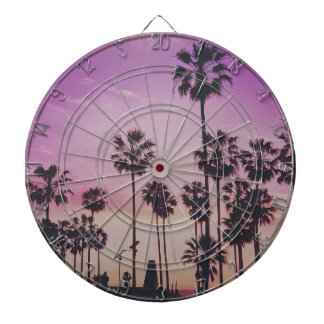 Tropical Palm Trees Miami Los Angeles Venice Dartboard