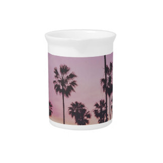 Tropical Palm Trees Miami Los Angeles Venice Pitcher
