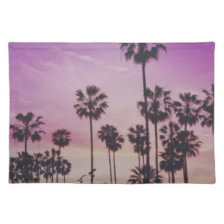 Tropical Palm Trees Miami Los Angeles Venice Placemat