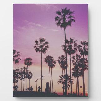 Tropical Palm Trees Miami Los Angeles Venice Plaque
