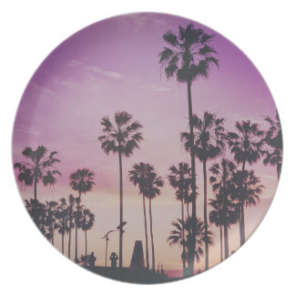 Tropical Palm Trees Miami Los Angeles Venice Plate