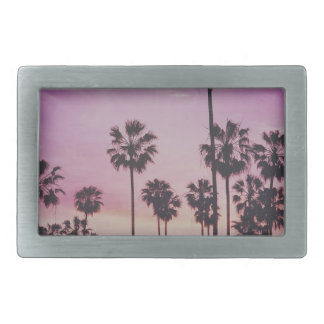 Tropical Palm Trees Miami Los Angeles Venice Rectangular Belt Buckle