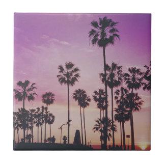 Tropical Palm Trees Miami Los Angeles Venice Tile