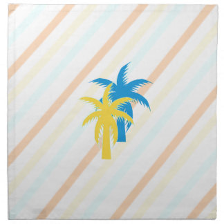 tropical palm trees napkin