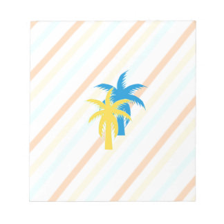 tropical palm trees notepad