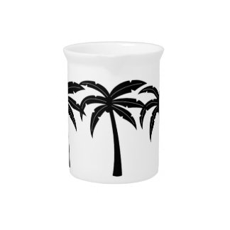 Tropical Palm Trees Pitcher