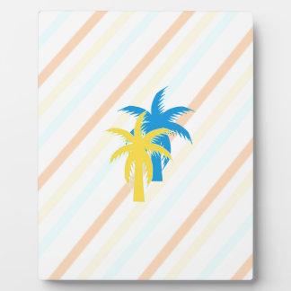 tropical palm trees plaque