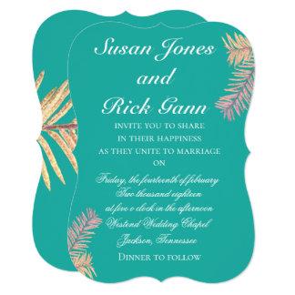 Tropical palm Wedding Invitations