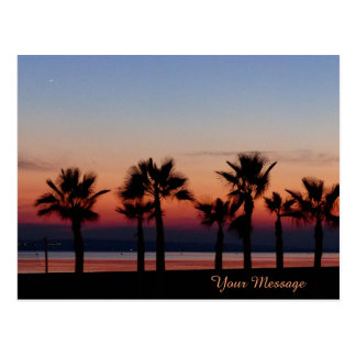 Tropical Palms at Sunset Personalised Postcard