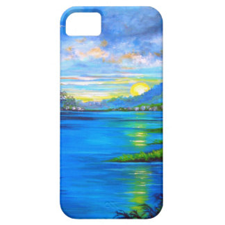 Tropical Palms Blue iPhone 5 Covers