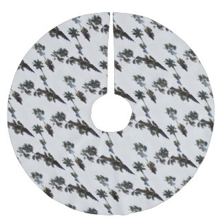 Tropical Palms Brushed Polyester Tree Skirt
