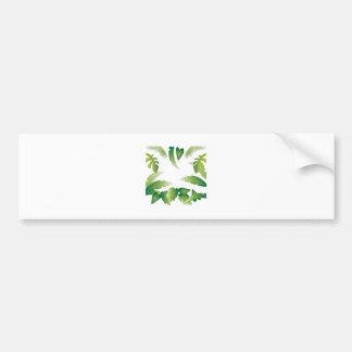 Tropical Palms Bumper Sticker
