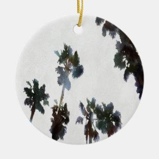 Tropical Palms Ceramic Ornament