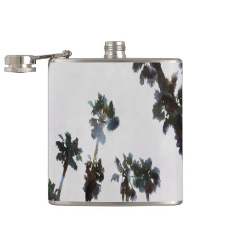 Tropical Palms Hip Flask