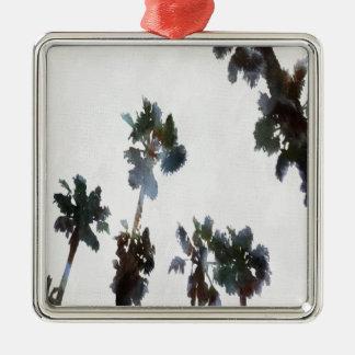 Tropical Palms Metal Ornament