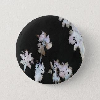 Tropical Palms On Black Background 6 Cm Round Badge