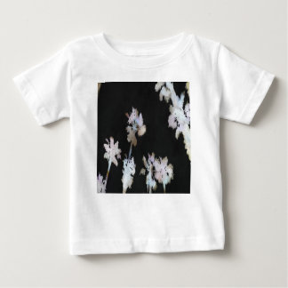 Tropical Palms On Black Background Baby T-Shirt