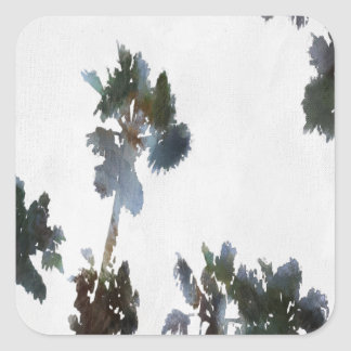 Tropical Palms Square Sticker
