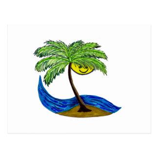 Tropical palmtree postcard