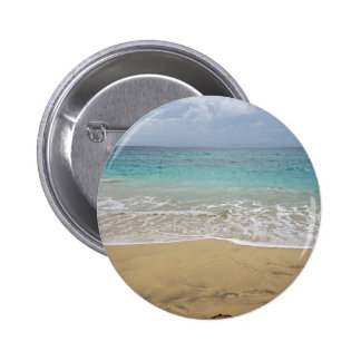 tropical paradise 6 cm round badge