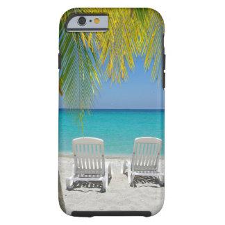 Tropical paradise beach in the Caribbean Tough iPhone 6 Case