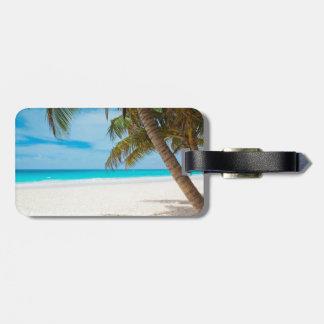 Tropical Paradise Beach Luggage Tag
