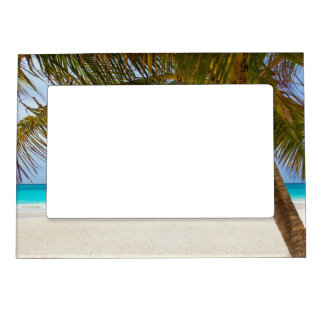 Tropical Paradise Beach Magnetic Picture Frame