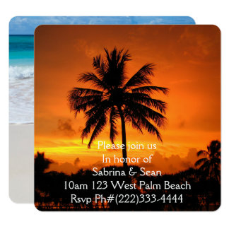 Tropical Paradise Beach Palm Destiny Destiny'S Card