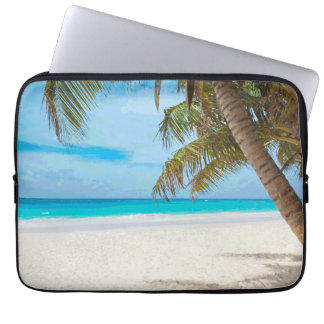 Tropical Paradise Beach Palm Trees Laptop Sleeve