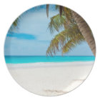 Tropical Paradise Beach Plate