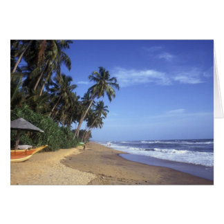 Tropical Paradise Beach Scene Card