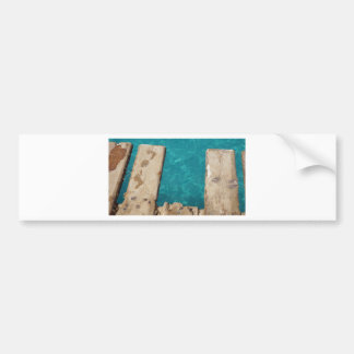 tropical paradise bumper sticker