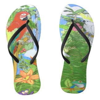 Tropical Paradise Flip Flops