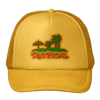 Tropical Paradise Trucker Hats