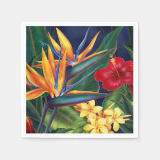 Tropical Paradise Hawaiian Floral Disposable Napkin